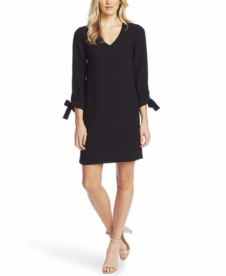CeCe Sportswear Women's 3/4 TIE Sleeve V-Neck Dress