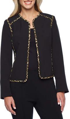 Evan Picone BLACK LABEL BY EVAN-PICONE Black Label by Evan-Picone Animal Trim Suit Jacket