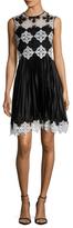 Karen Millen Graphic Lace Flared Dress