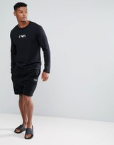 Emporio Armani Logo Lounge Shorts In Black