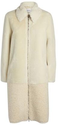 Claudie Pierlot Faux Fur Zip-Up Coat