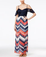 Trixxi Juniors' Cold-Shoulder Maxi Dress