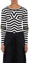 MM6 MAISON MARGIELA Women's Striped Stretch-Cotton Shirt-BLACK