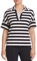 Lafayette 148 New York Drop Shoulder Stripe Shirt