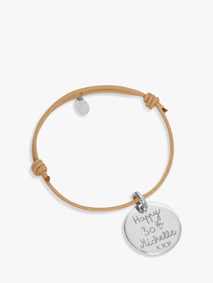 Merci Maman Sterling Silver Personalised Disc Bracelet