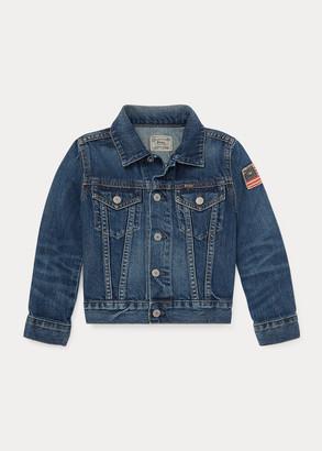 Ralph Lauren Flag Denim Trucker Jacket