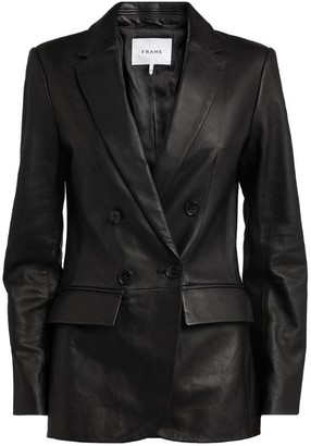 Frame Leather Blazer Jacket
