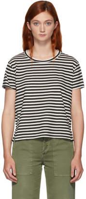 Amo Black and White Striped Twist T-Shirt