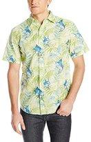 Margaritaville Men's Short Sleeve Deep Sea Jungle Shirt