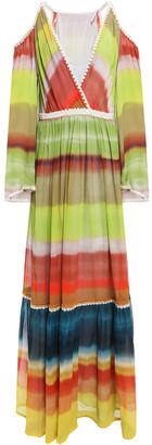 Missoni Cold-shoulder Degrade Silk-georgette Maxi Dress