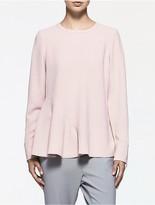 Calvin Klein Platinum Crepe Long Sleeve Top