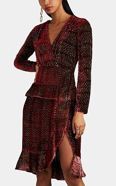 Altuzarra Women's Farley Velvet Wrap Dress - Red