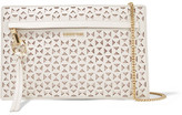 Elizabeth and James James Mini Laser-cut Leather Shoulder Bag - White