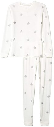 PJ Salvage Kids Silver Star Peachy Two-Piece Jammie Set (Toddler/Little Kids/Big Kids) (Ivory) Kid's Pajama Sets