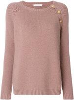Pierre Balmain shoulder button sweater - women - Polyamide/Viscose/Angora - 34