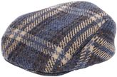 Lardini Merino Wool Blend Tartan Flat Cap