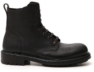 Dolce & Gabbana Lace-Up Ankle Boots