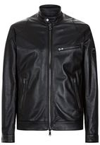 Hackett Aston Martin Reversible Leather Jacket
