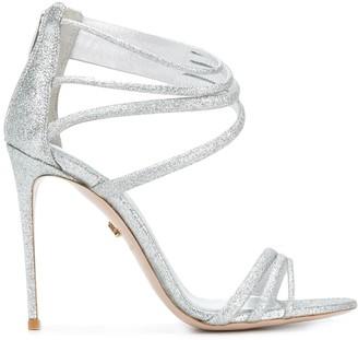 Le Silla Glitter Strappy Sandals