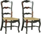 One Kings Lane Ebony Wilkes Side Chairs, Pair