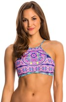Jessica Simpson Swimwear Mojave High Neck Halter Bikini Top 8145292