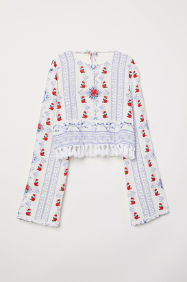 H&M Short viscose blouse