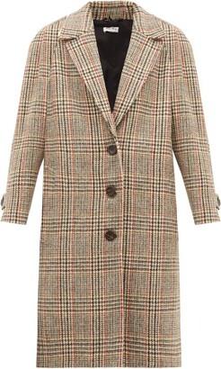 Miu Miu Single-breasted Checked Wool-tweed Coat - Beige Multi