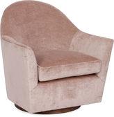 Kim Salmela Ainsley Swivel Chair, Blush Linen Velvet