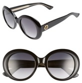 Gucci Women's 51Mm Gradient Lens Round Sunglasses - Black/ Grey Polar