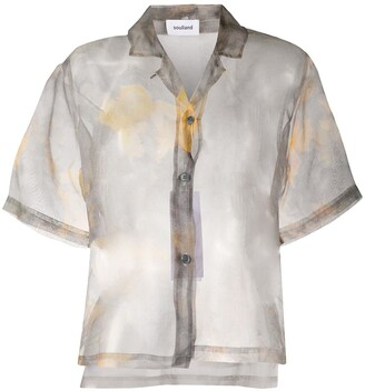 Soulland Cleo floral-print sheer shirt