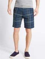 Marks and Spencer Pure Cotton Checked Shorts