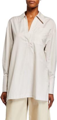 Co Half-Placket Cotton Tunic