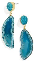 BaubleBar Women's Geode Drop Earrings