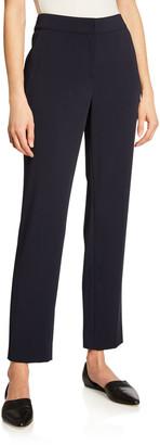 St. John Emma Straight-Leg Stretch Cady Pants