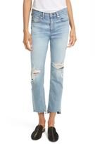 Rag & Bone Women's High Waist Step Hem Stove Pipe Jeans
