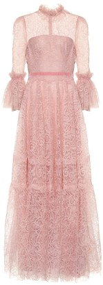 Costarellos Floral lace gown