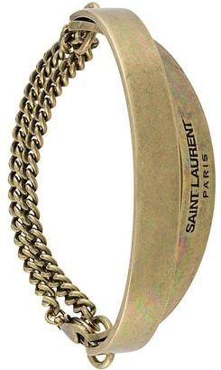 Saint Laurent Double Plaque Chain Bracelet