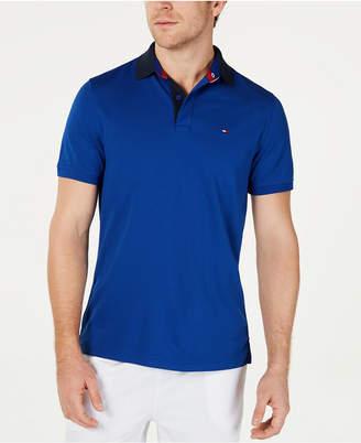 Tommy Hilfiger Men Moisture Wicking Gibson Custom-Fit Polo Shirt