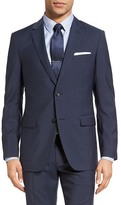 Theory Wellar Trim Fit Check Wool Sport Coat