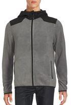 Saks Fifth Avenue BLACK Hooded Fleece Utility Jacket