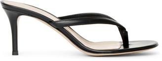 Gianvito Rossi Calypso 70 black leather sandals