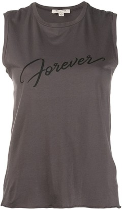 Nili Lotan 'forever' Logo Tank Top