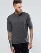 Asos Turtleneck Short Sleeve Cardigan in Merino Wool Mix