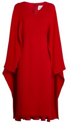 Valentino Cape-Sleeve Dress