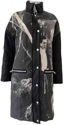 JC de CASTELBAJAC Black Cotton Coat for Women Vintage