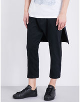 Helmut Lang Relaxed-fit Skirted Stretch-cotton Trousers