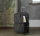 Pottery Barn Beckett Leather Travel Rolling Luggage