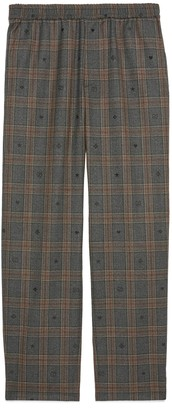 Gucci Symbols check wool trousers