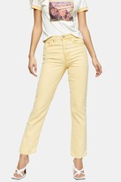 Topshop Yellow Straight Jeans