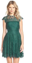 BB Dakota Women's 'Rhianna' Illusion Yoke Lace Fit & Flare Dress